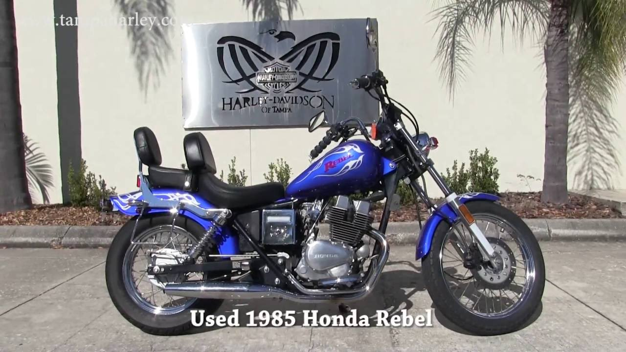 used honda rebel 1985 for sale in tampa fl amazing condition youtube. Black Bedroom Furniture Sets. Home Design Ideas
