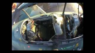 saab j32 lansen inflight cockpit video