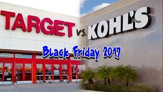 Target vs Kohls (Kohl's) Black Friday 2017 Deals Comparison