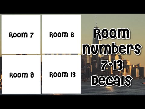 Roblox Bloxburg Room Numbers 7 13 Decal Id S Youtube