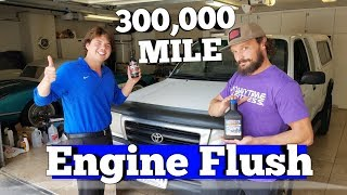 300,000 Mile AMSOIL Engine Flush Before & After