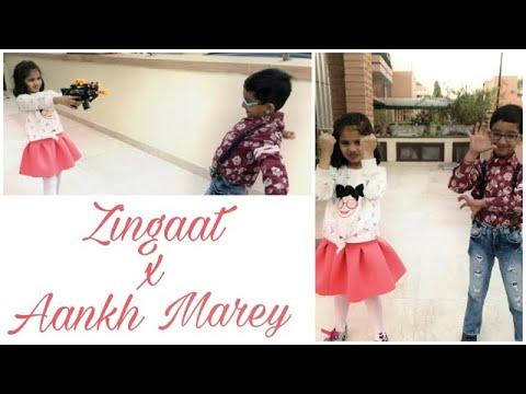 Kids Dance  Zingaat  Aankh Marey  Divya Hotchandani Choreography