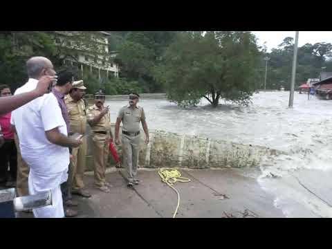Flood Situation at Pamba-Triveni in Sabarimala