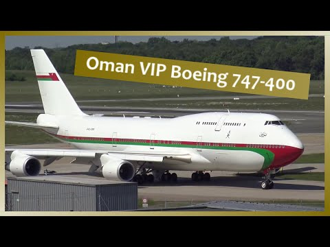 Oman VIP Boeing 747 departing Hamburg Airport | 4K Ultra HD