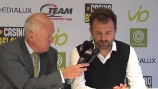 Interview na KSC Lokeren - Club Brugge met Ivan Leko