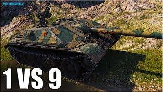 против ДЕВЯТЕРЫХ на китайской прем пт-сау  World of Tanks WZ-120-1G FT