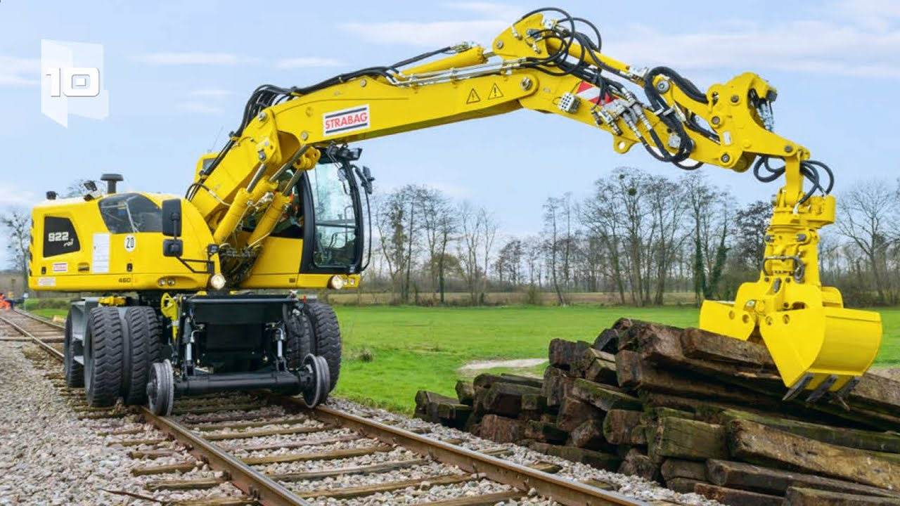 10 Máquinas Industriales Ferroviarías más Sorprendentes del Mundo