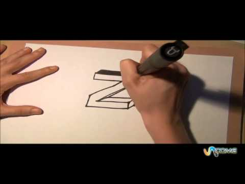 Come disegnare la lettera z in 3d youtube for Disegnare una stanza in 3d