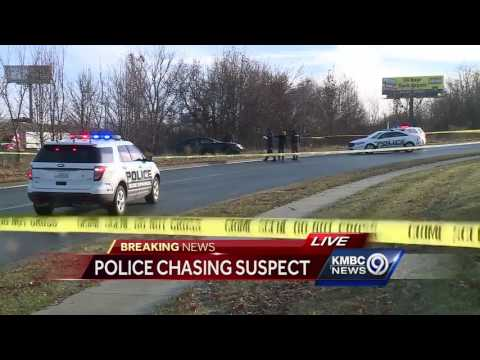 WATCH: Police chase officer-involved shooting suspect into I
