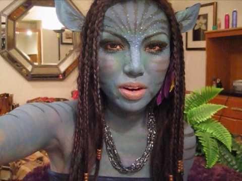 Avatar Make-up !!!!(Neytiri) - YouTube