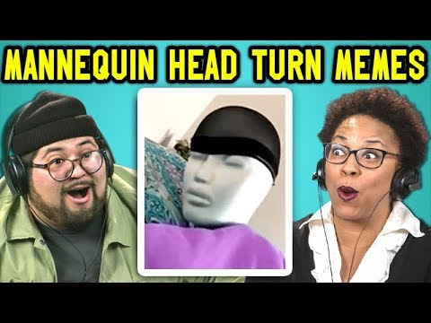 ADULTS REACT TO MANNEQUIN HEAD TURN MEME COMPILATION