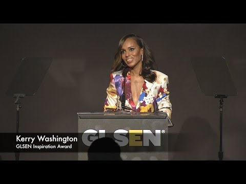 Em Gentry & Tony Goldwyn present Kerry Washington with Inspiration Award