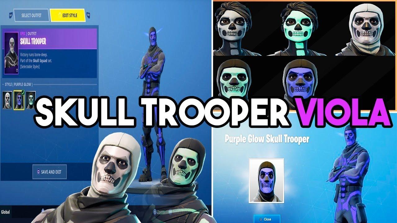 Live Fortnite Skull Trooper Viola