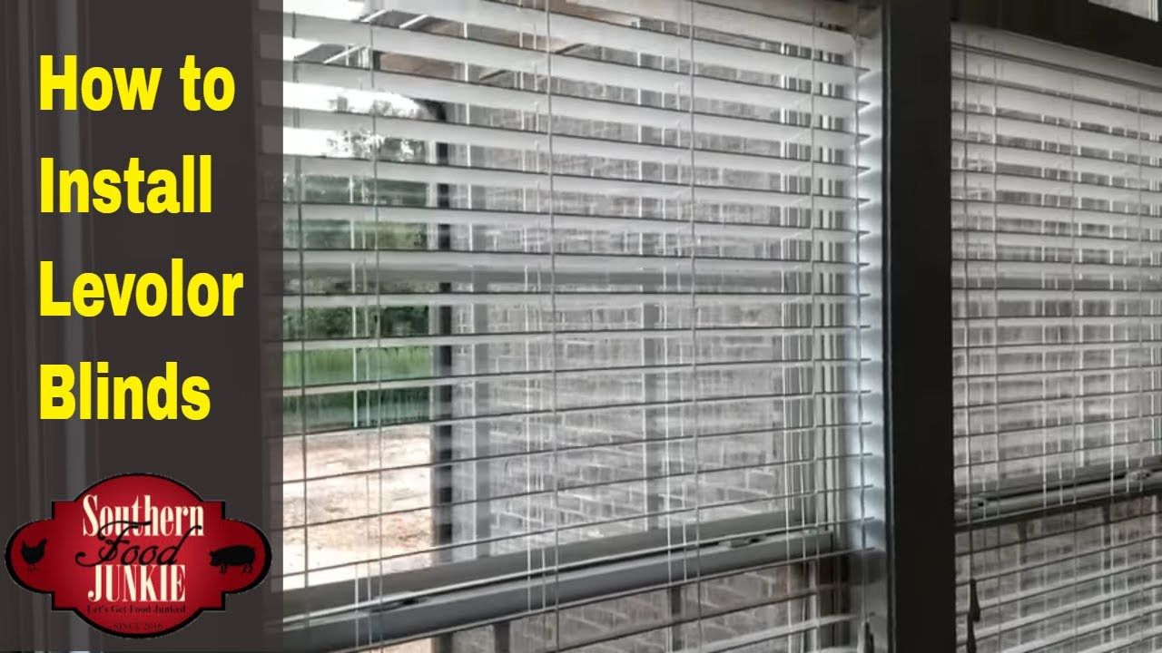 How To Install Levolor Blinds And Review Of Blinds Com Youtube