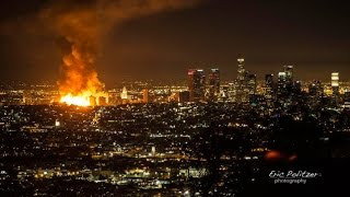 Massive Fire In Downtown Los Angeles Exclusive Footage !