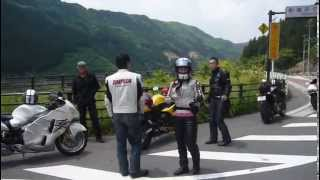Suzuki GSX-1300R Hayabusa  Woman ride  in japan.MOV