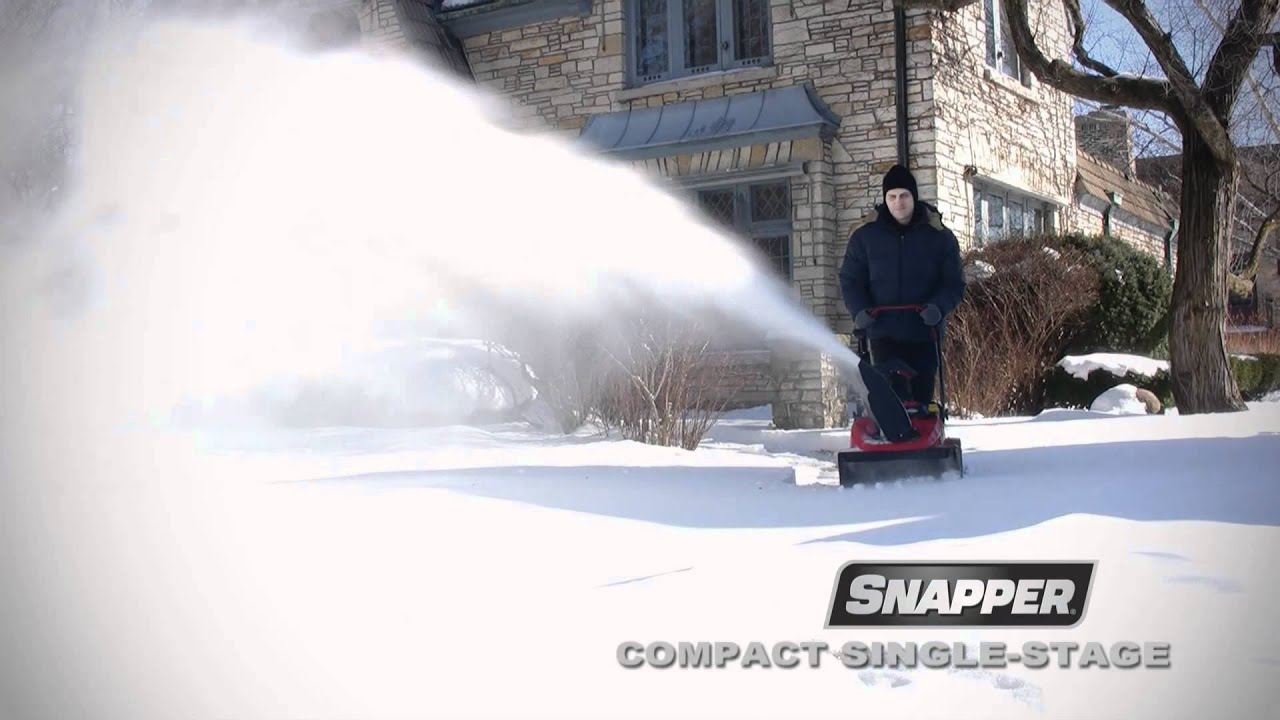 Snapper Snow Blower Demo pact Single Stage