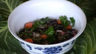Black Bean & Lentil Salad : Lentil Recipes