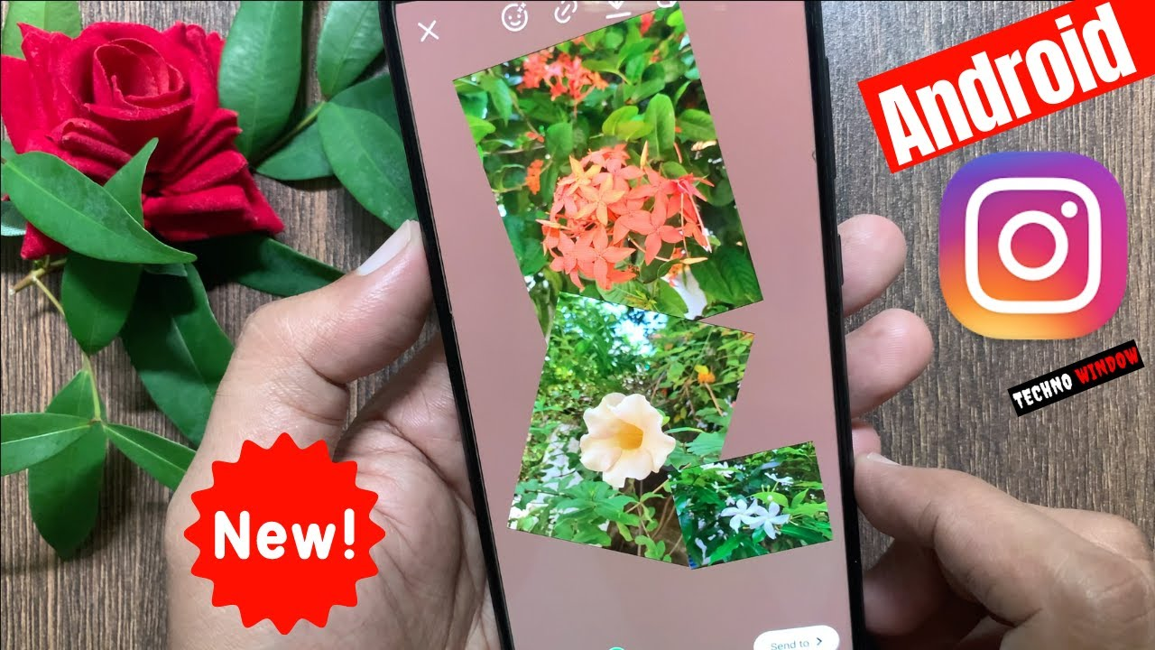 How To Add Multiple Photos To Instagram Stories On Android! (Samsung Galaxy A70)