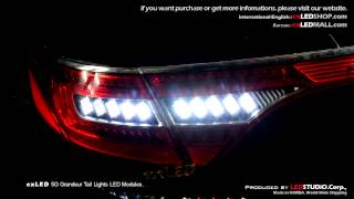 exled 5g grandeur 1533l2 2color power led backup lights sequential turn signal modules pair