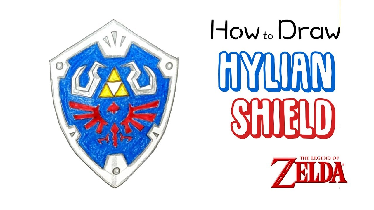 How To Draw The Hylian Shield From The Legend Of Zelda Youtube