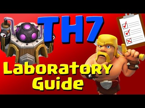 Clash of Clans: TH7 Laboratory Research Guide (August 2016) ULTIMATE!!!