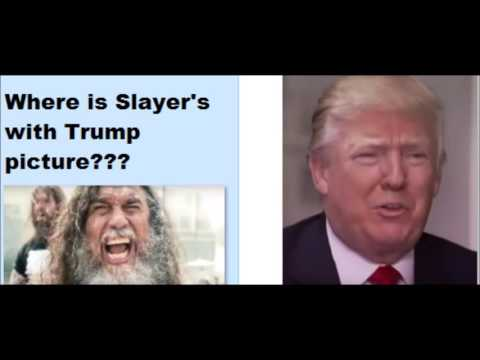 Slayer's band picture with Donald Trump missing from Instagram.. Tom is confused..