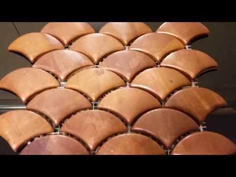 Copper Fish Scale Mosaic Tiles