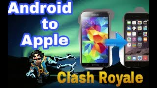 How to transfer clash Royale profile from android to ios/iphone