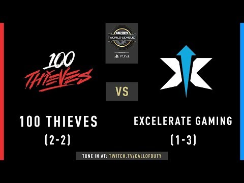 100 Thieves vs Excelerate Gaming | CWL Pro League 2019 | Division B | Week 4 | Day 2