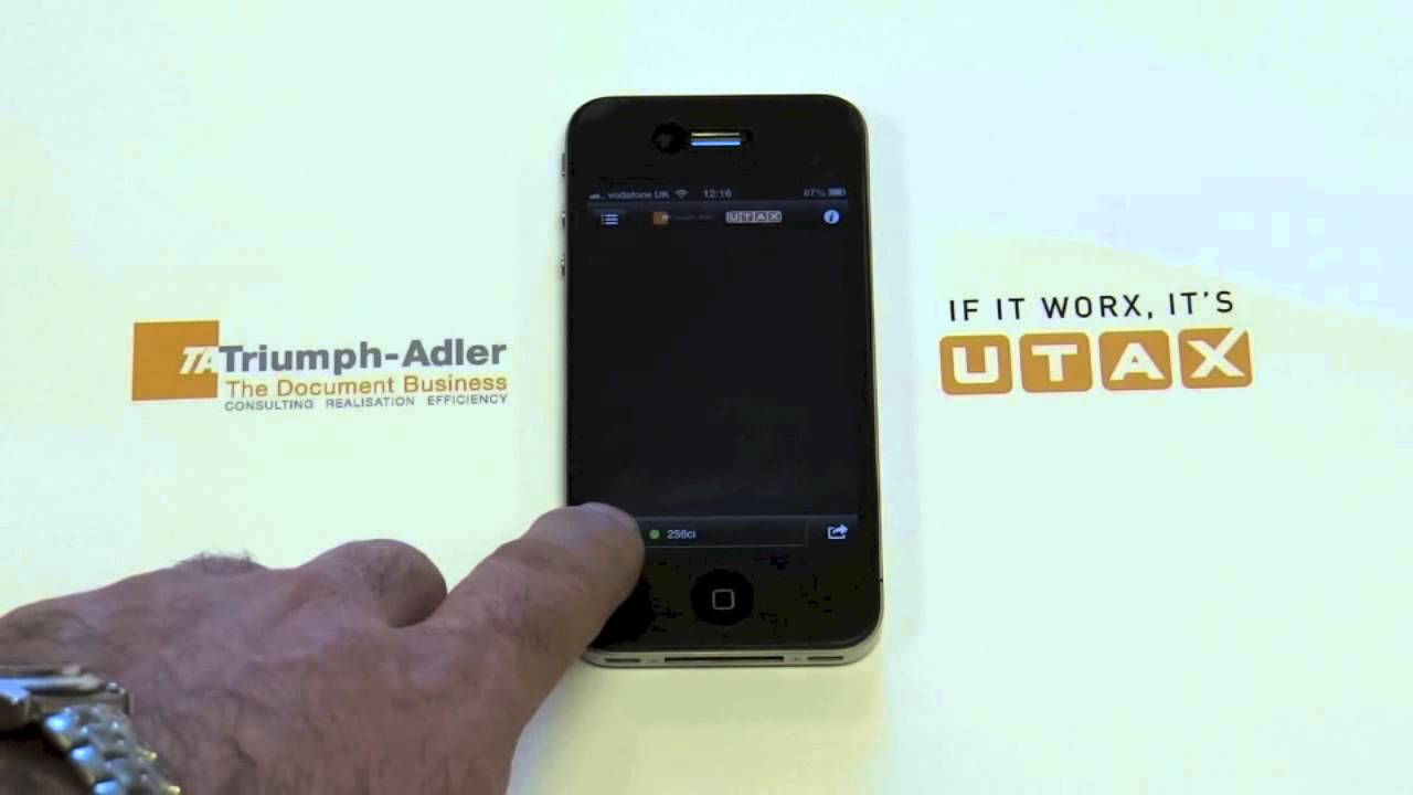 iphone document printing to Triumph Adler UTAX device