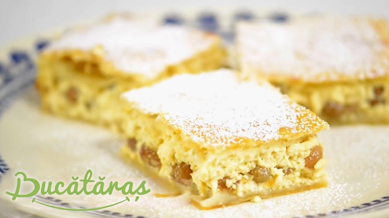 Reteta - Placinta cu branza dulce si stafide | Bucataras TV