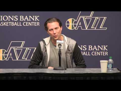 14/15 Utah Jazz exit interviews - Quin Snyder and Dennis Lindsey