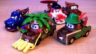 Repeat youtube video Cars 2 Francesco Fan Mater Chase Deluxe 2013 Materhosen German Truck Diecast Mattel Disney Pixar
