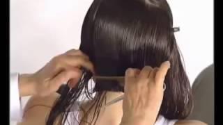 Градуированное КАРЕ на основе длинных волос