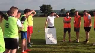 UEFA B coaching session