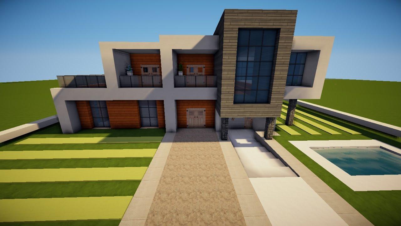 Traum Minecraft Modernes Haus Bauen 23x20 Tutorial Anleitung 17 2016