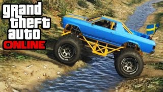 GTA 5 - Monster Truck Mudding & Mountain Climbing - 4x4 Off-Roading (GTA V Cheval Marshall)(Here's some monster truck mudding & mountain climbing in GTA Online! Also, some pretty epic off-roading 4x4 action, using the Cheval Marshall on Xbox One ..., 2014-11-29T00:12:06.000Z)