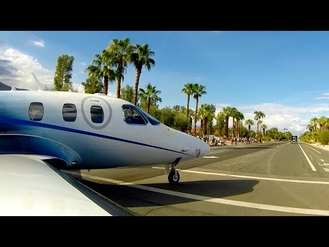Eclipse 550 Jet Taxiing On Neighborhood Streets (Parade Of Planes 2015)