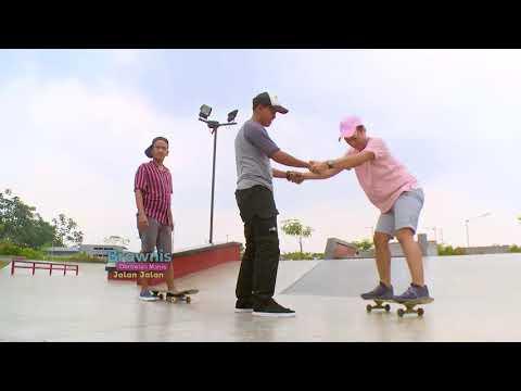 BROWNIS JALAN JALAN - Ruben Anwar Belajar Main Skateboard Untuk Pemula (2/6/18) Part 3