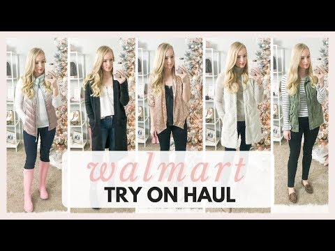 HUGE WALMART TRY ON HAUL WINTER AND HOLIDAY OUTFITS 2018 | Amanda John