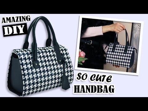 FANTASTIC DIY PURSE BAG POPULAR PRINT // Zipper Handbag Tutorial Fashion Design 2019