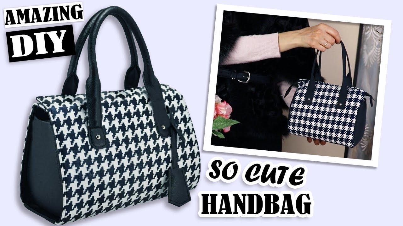 FANTASTIC DIY PURSE BAG POPULAR PRINT // Zipper Handbag ...