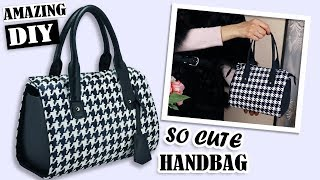 FANTASTIC DIY PURSE BAG POPULAR PRINT // Zipper Handbag Tutorial ...