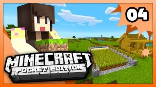 Minecraft PE (Pocket Edition) - AUTOMATIC WHEAT FARM! - Ep 4 -