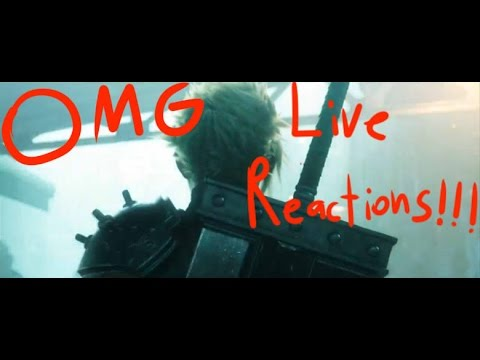 Final Fantasy VII Remake - CRAZY LIVE REACTIONS (Sony E3 2015 Press Conference)