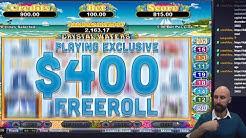 Having a go at $400 Freeroll slots tournament