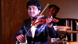 """Kanne Kalaimane"" Abhijith P S Nair on Violin Live With His fusion Band(Ilayaraja Violin Cover)"