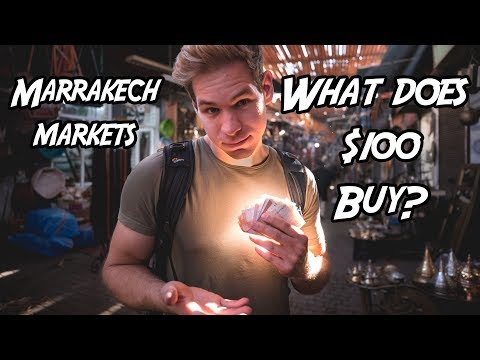 What Does $100 Get You In The Marrakech Markets?! Morocco