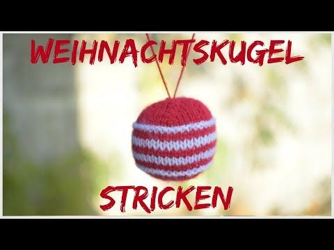 Weihnachtskugel stricken | Christbaumkugel stricken DIY Weihnachtsschmuck
